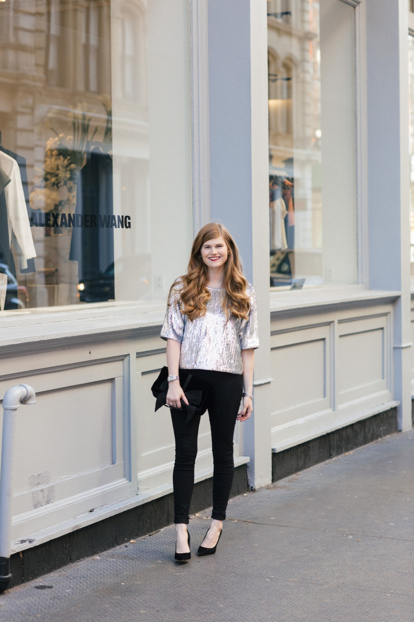 Lifestyle blogger Mollie Sheperdson shares her 2017 NYE look