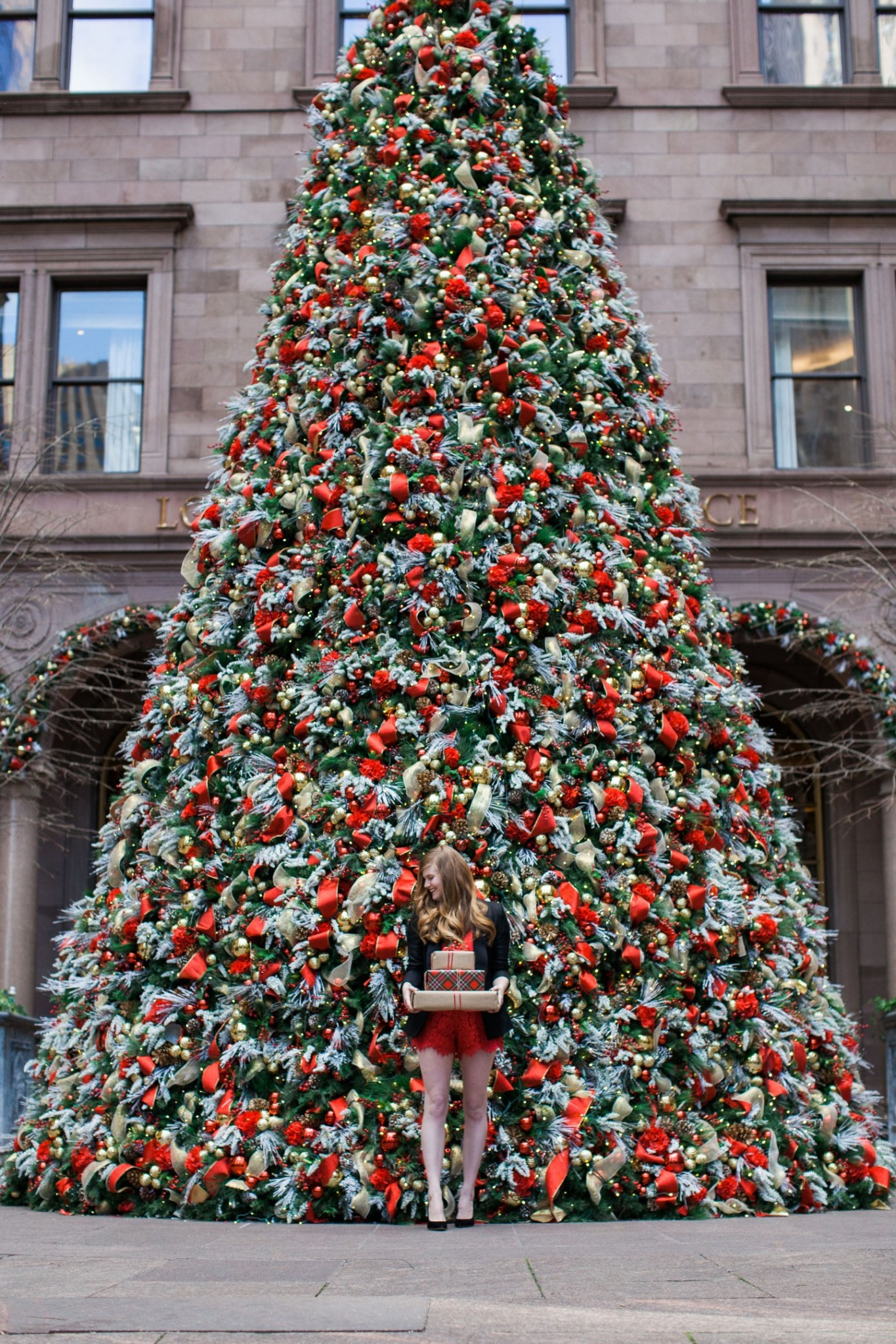 Lifestyle blogger Mollie Sheperdson shares a holiday look at the Lotte Palace in New York City
