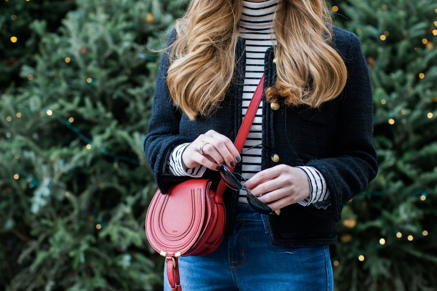 Lifestyle blogger Mollie Sheperdson shares a Christmas look at The Plaza in NYC
