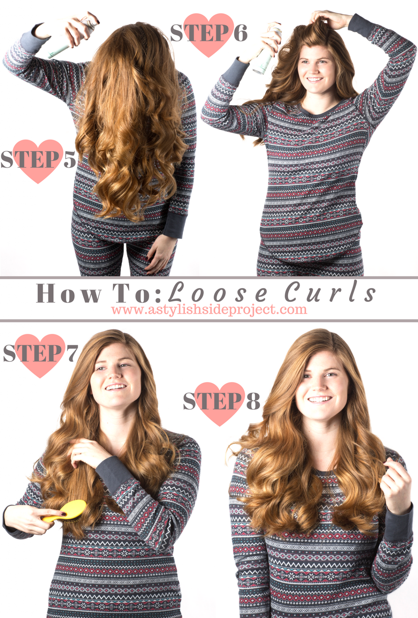 Lifestyle blogger Mollie Sheperdson shares how she gets her everyday loose curls in this detailed hair tutorial!